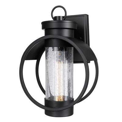 Balvin 1-Light Black Outdoor Wall Mount Sconce