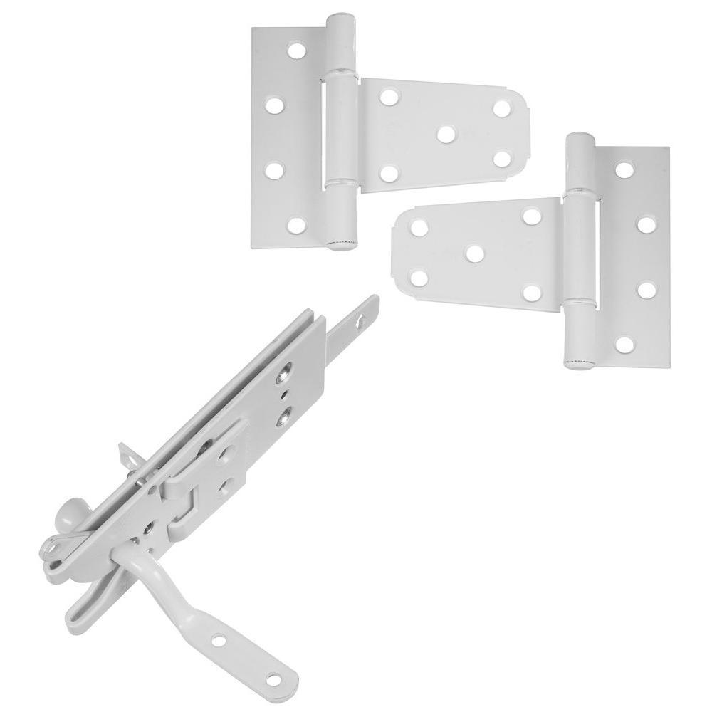 National Hardware Vinyl Fence Gate Kit In White Powder