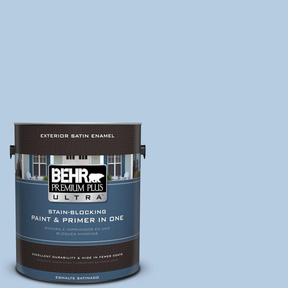 BEHR Premium Plus Ultra 1-gal. #PPU14-14 Crystal Waters Satin Enamel Exterior Paint