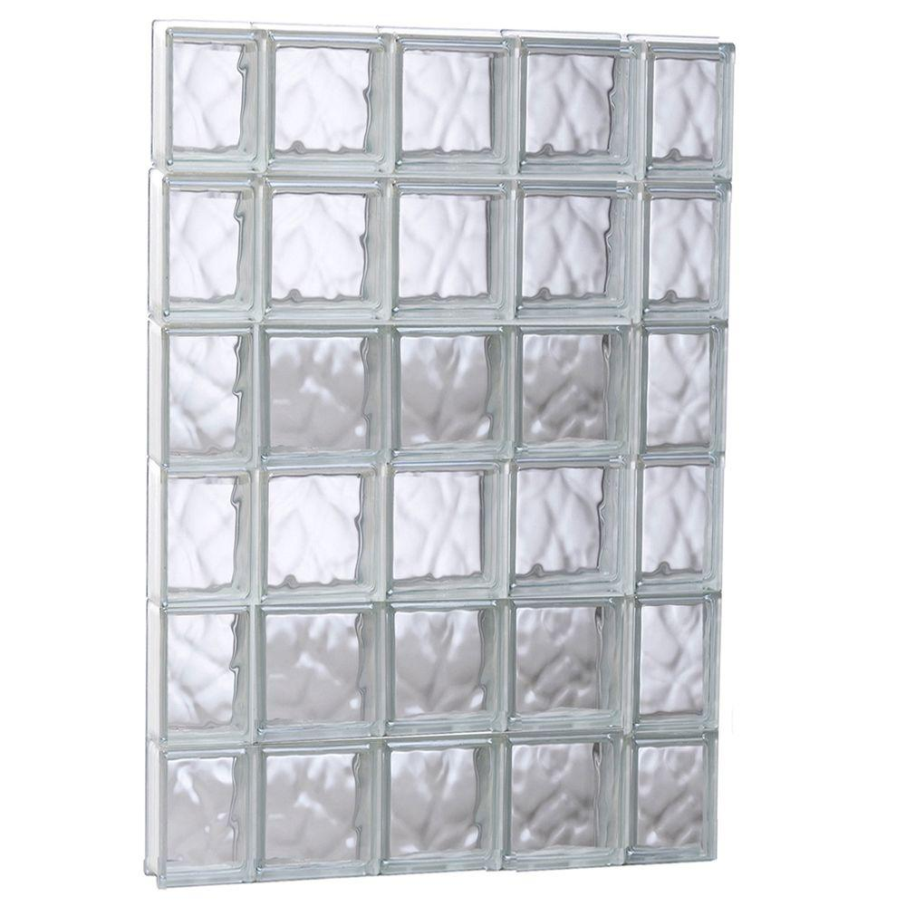 Clearly Secure 34.75 in. x 46.5 in. x 3.125 in. Frameless Wave ...