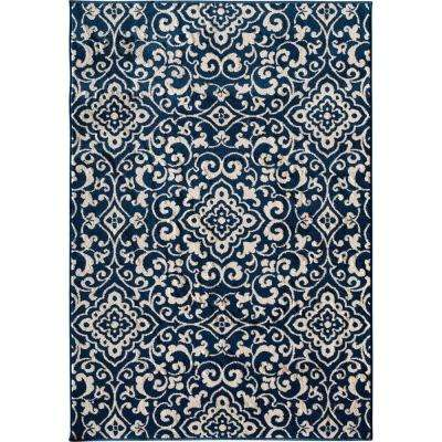 Patio Brights Mcbee Blue 5 Ft X 7 Ft 3 In Indoor Outdoor Area Rug