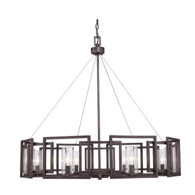 Reddington Collection 8-Light Gunmetal Bronze Chandelier