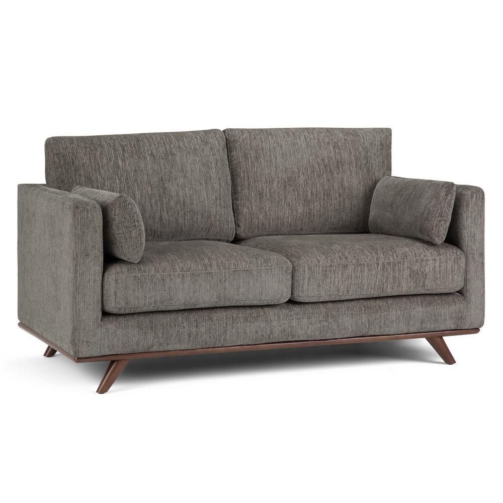 Simpli Home Calvin Mid Century Modern 63 in. Wide Sofa ...