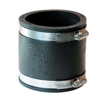 3 in. x 3 in. PVC DWV Mechanical Flexible Coupling