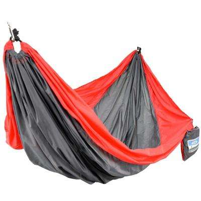 2-Person Red/Gray Travel Hammock