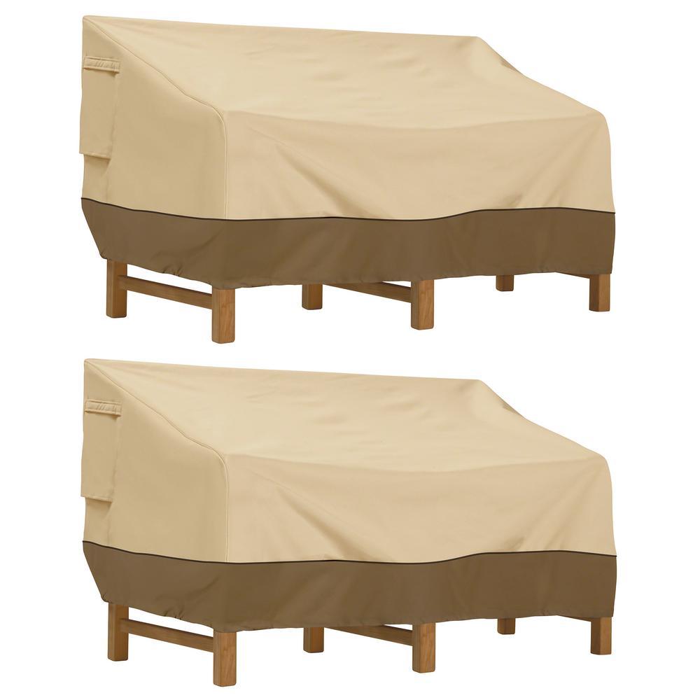 Veranda 90 in. L x 42 in. W x 34 in. H Deep Seated Patio Sofa/Loveseat Cover (2-Pack)
