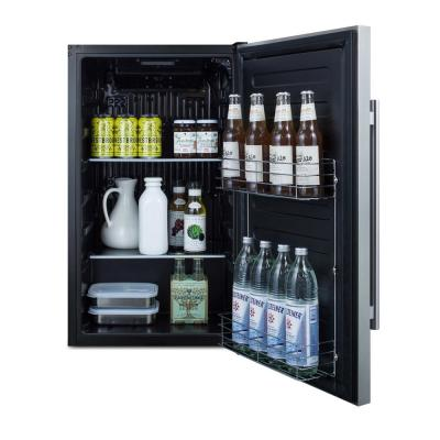 19 in. 3.1 cu. ft. Outdoor Mini Refrigerator without Freezer in Stainless Steel