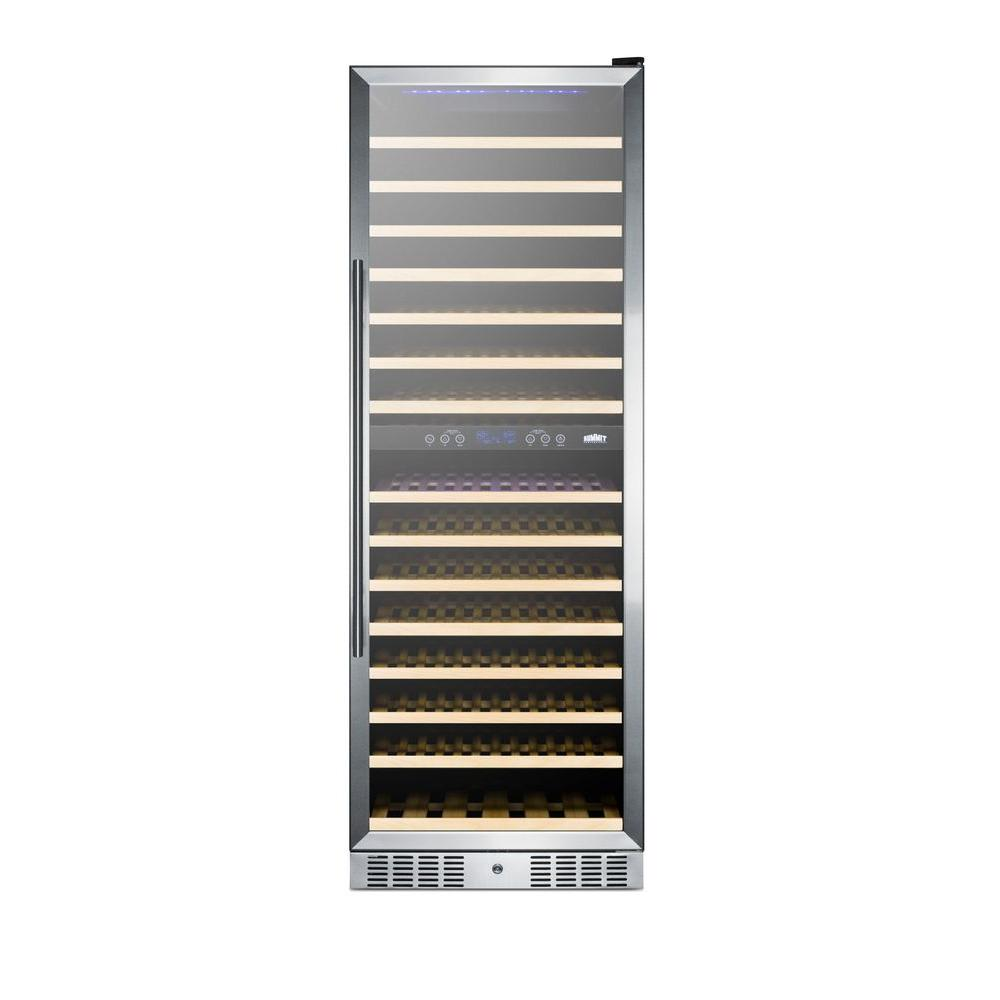 Summit Appliance 24 in. 157-Bottle Wine Cooler with Two Temperature Zones