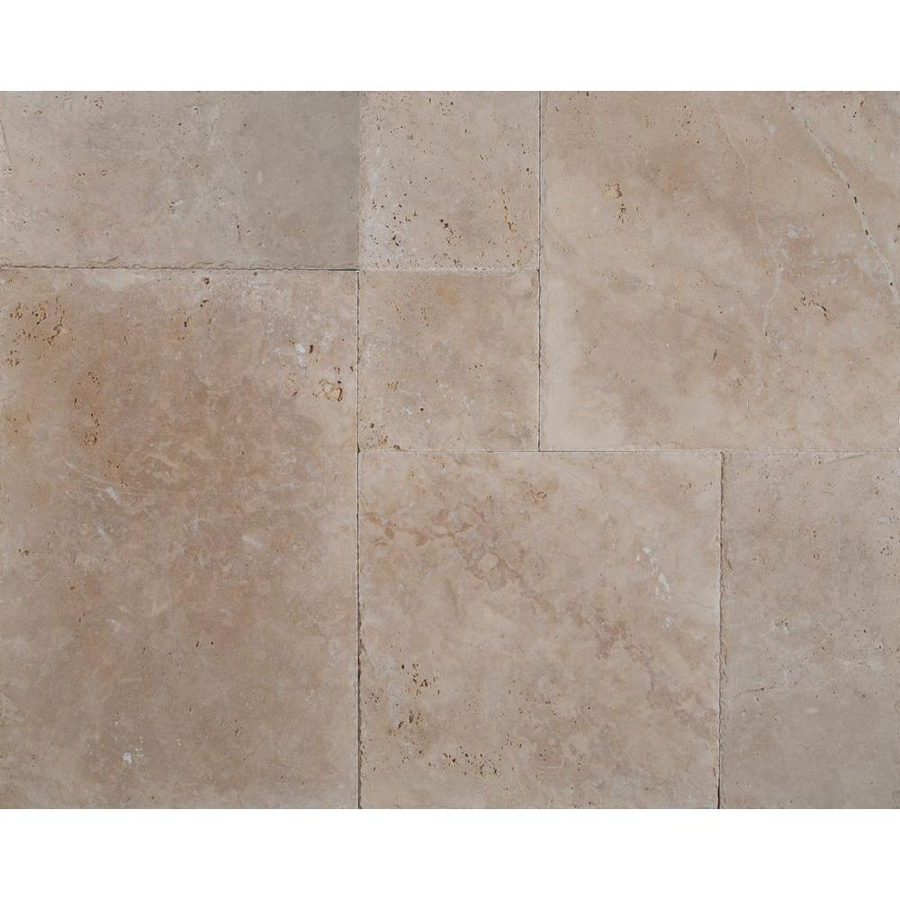 Msi Ivory Onyx Pattern Honed Unfilled Chipped Travertine Floor And