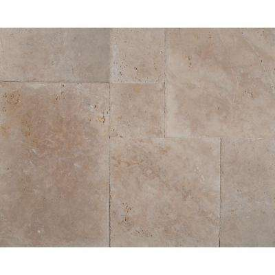 Ivory Onyx Pattern Honed Unfilled Chipped Travertine Floor And Wall Tile 5 Kits