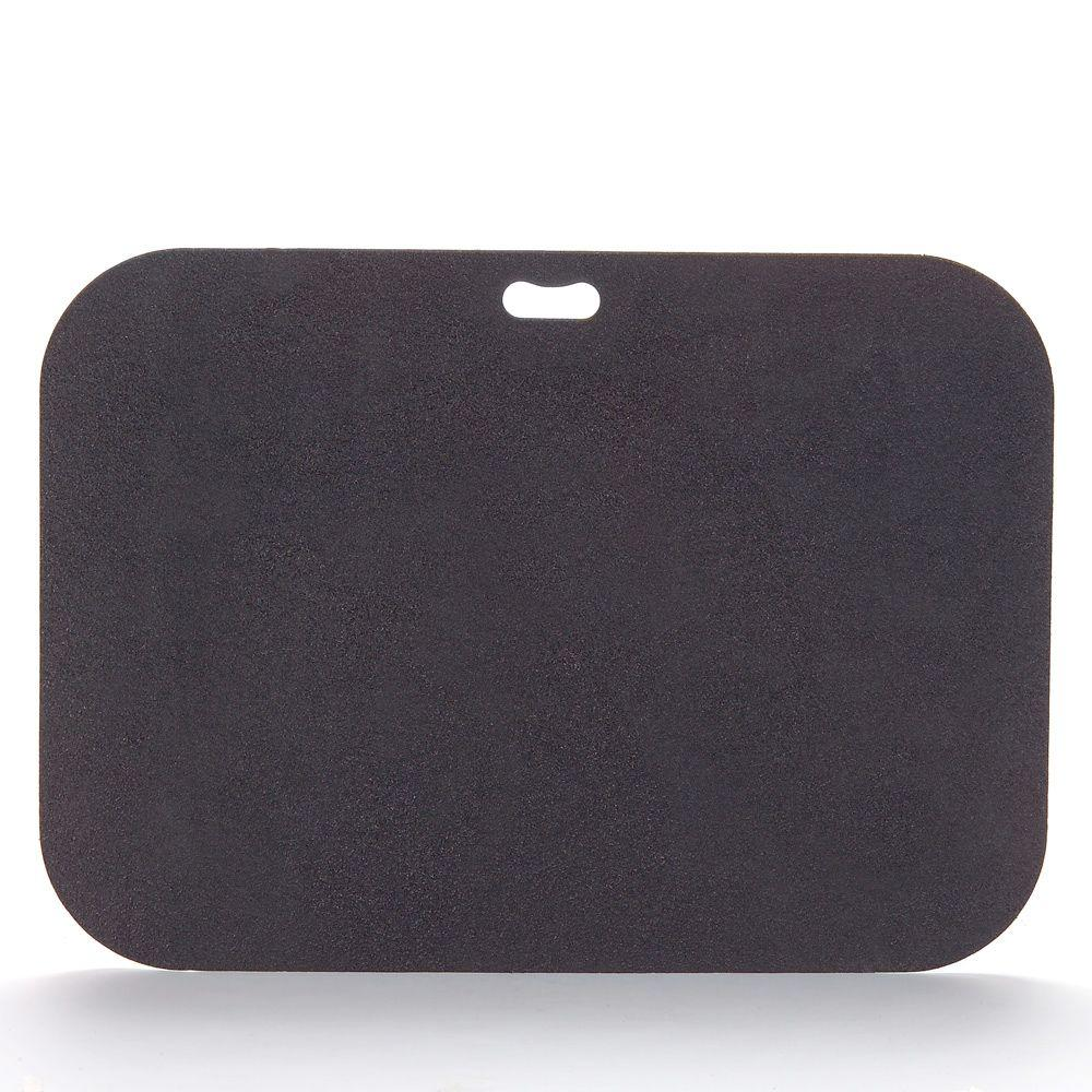 The Original Grill Pad 42 in. x 30 in. Rectangular Berry Black Deck Protector