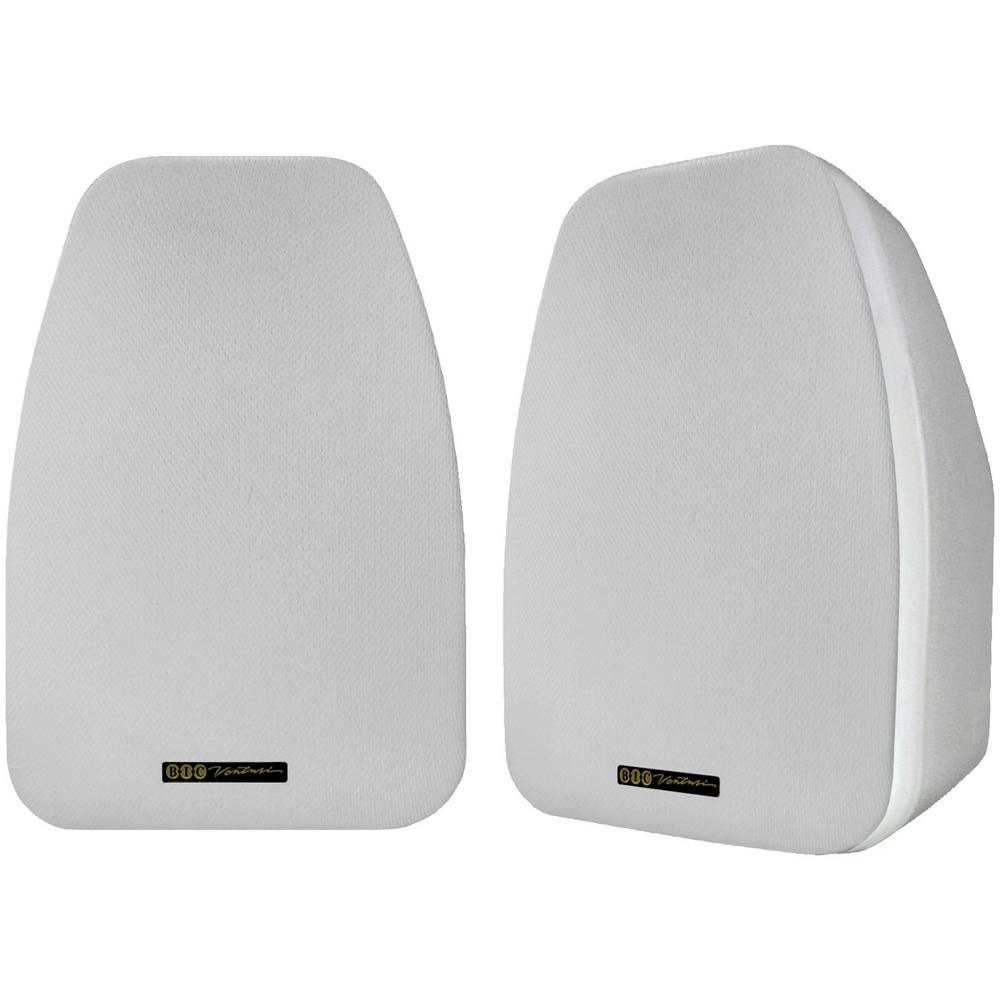 125-Watt 2-Way 5.25 in. Indoor/Outdoor Speakers with Keyholes for Versatile