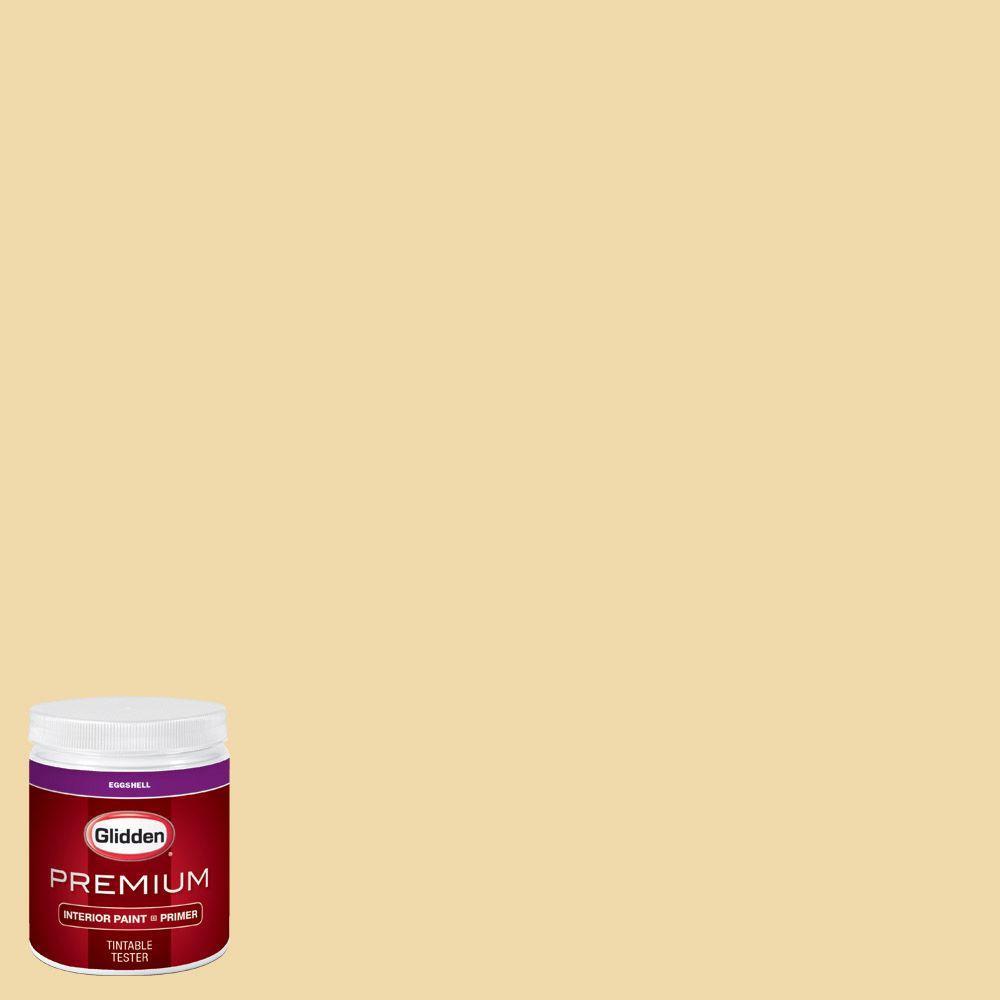 Glidden Premium 8 Oz Hdgy06d Fairest Of Gold Eggshell Interior Paint Sample With Primer