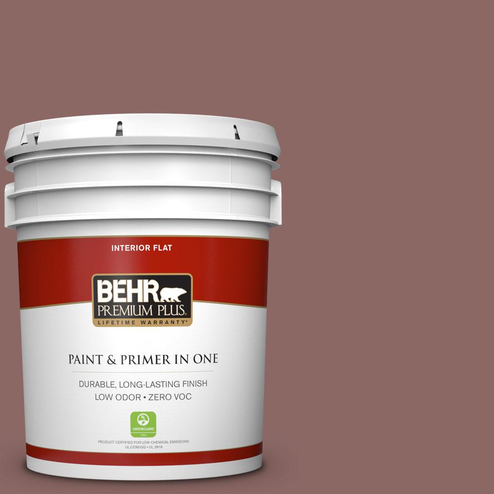 5 gal. #700B-5 Red Stone Zero VOC Flat Interior Paint