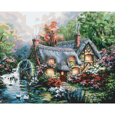 16 in. x 20 in. 24-Color Kit Cottage Mill Paint by Number