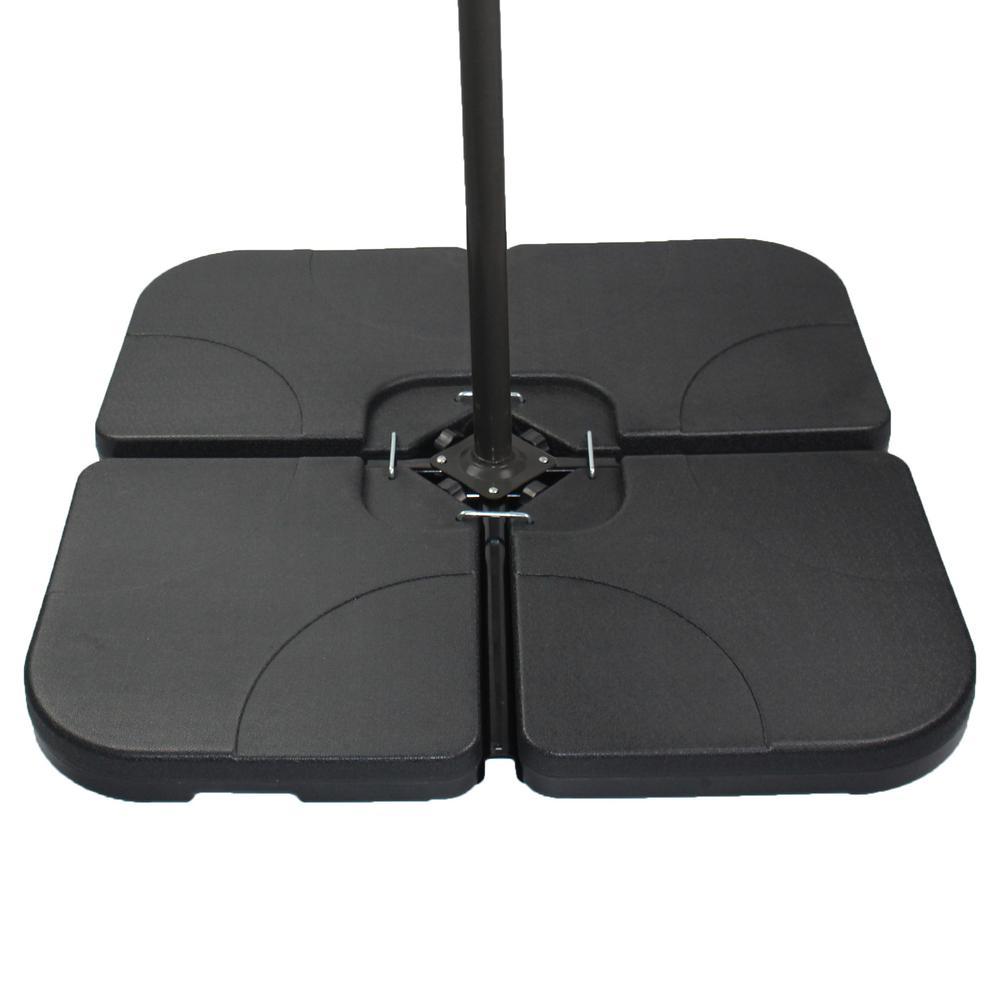 Patio Premier 5 lbs. Plastic Patio Umbrella Base in Black Offset