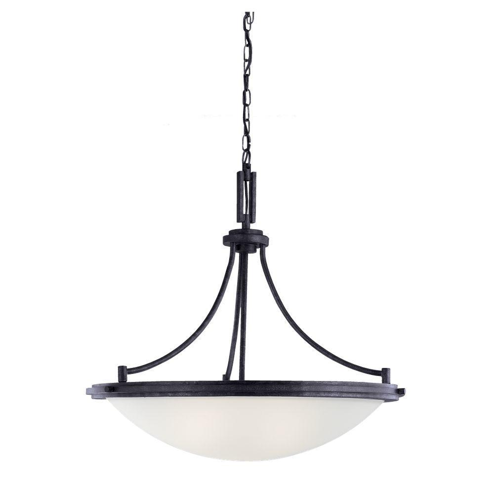 Sea Gull Lighting Winnetka 4-Light Blacksmith Pendant