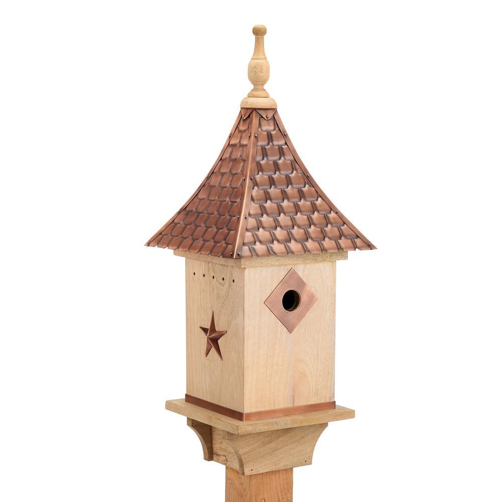 Copper Shingled Roof Bird House