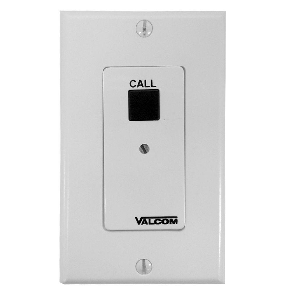 Valcom Call-In Switch with Volume Control - White