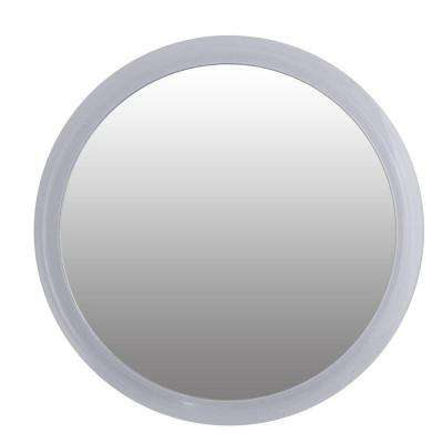 5X Acrylic Suction Cup Makeup Mirror in Clear