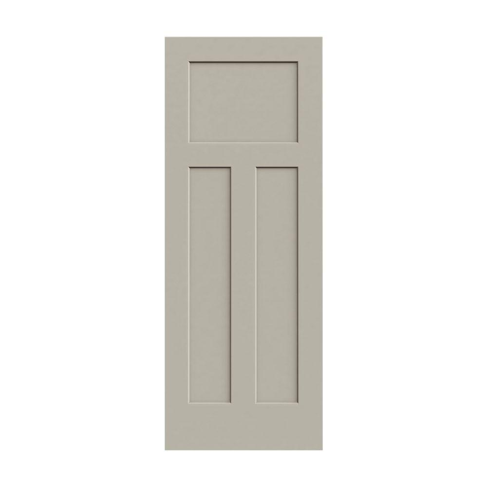 30 in. x 80 in. Craftsman Desert Sand Painted Smooth Molded