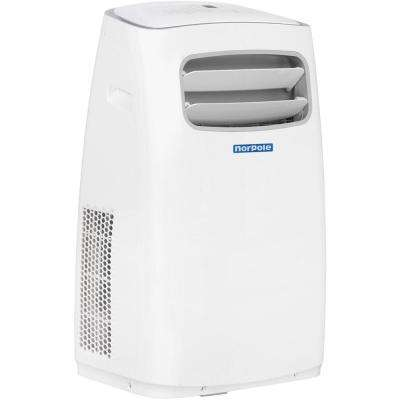 12,000 BTU 6,500 BTU (DOE) Portable Air Conditioner with Heater and Remote Control for Rooms up to 550 sq. ft. in White