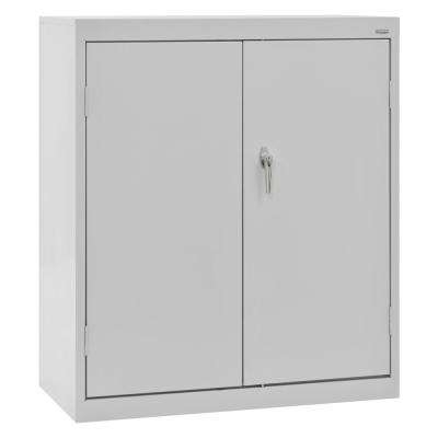 Classic Series 42 in. H x 36 in. W x 18 in. D Steel Counter Height Storage Cabinet with Adjustable Shelves in Dove Gray