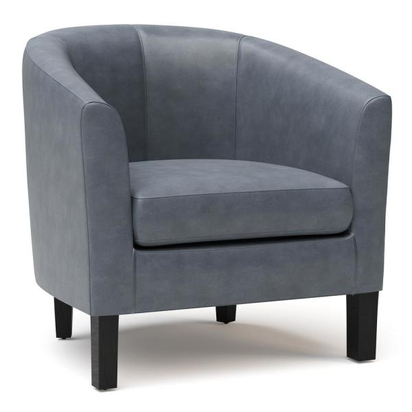 Austin 30 in. Wide Transitional Tub Chair in Stone Grey Faux Leather
