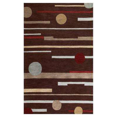 Linear Rise Brown 8 ft. x 10 ft. Area Rug