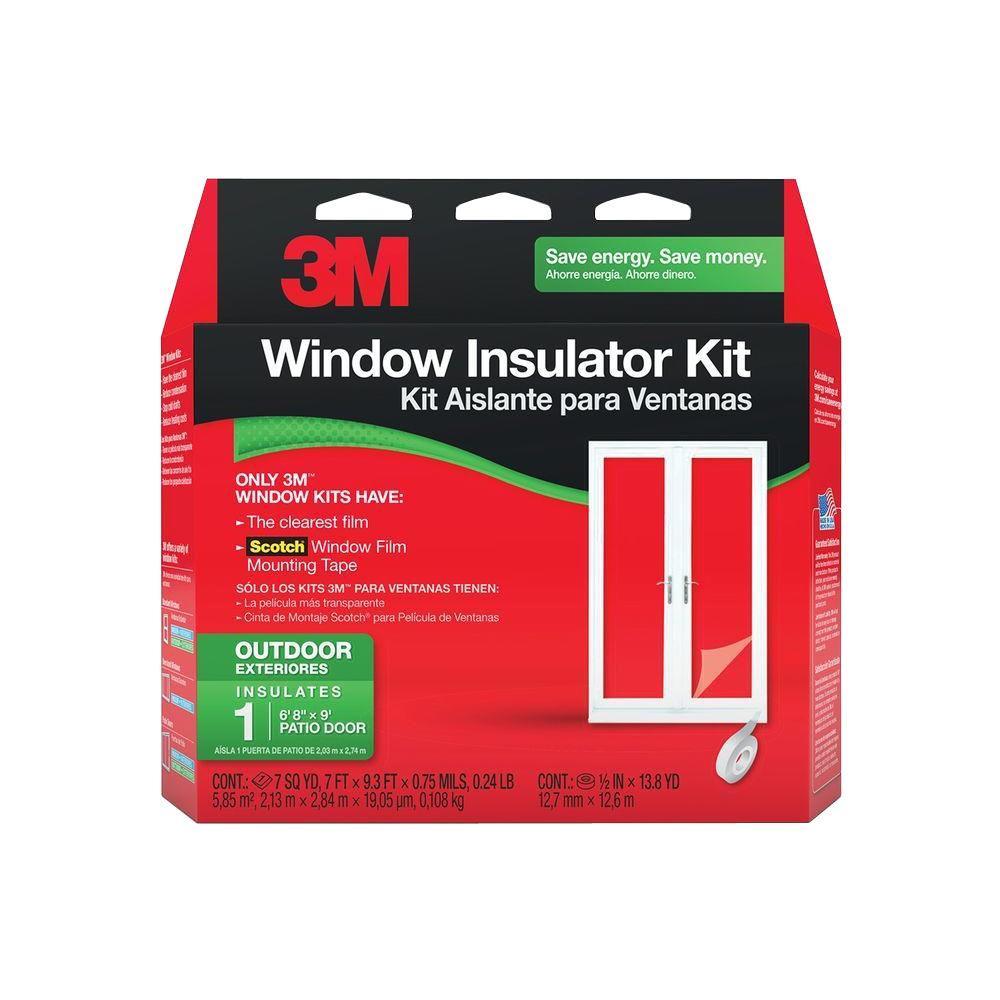 3M 84 inch x 112 inch Outdoor Patio Door Insulator Kit by 3M