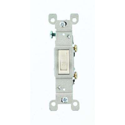 15 Amp Single-Pole Toggle Switch, White