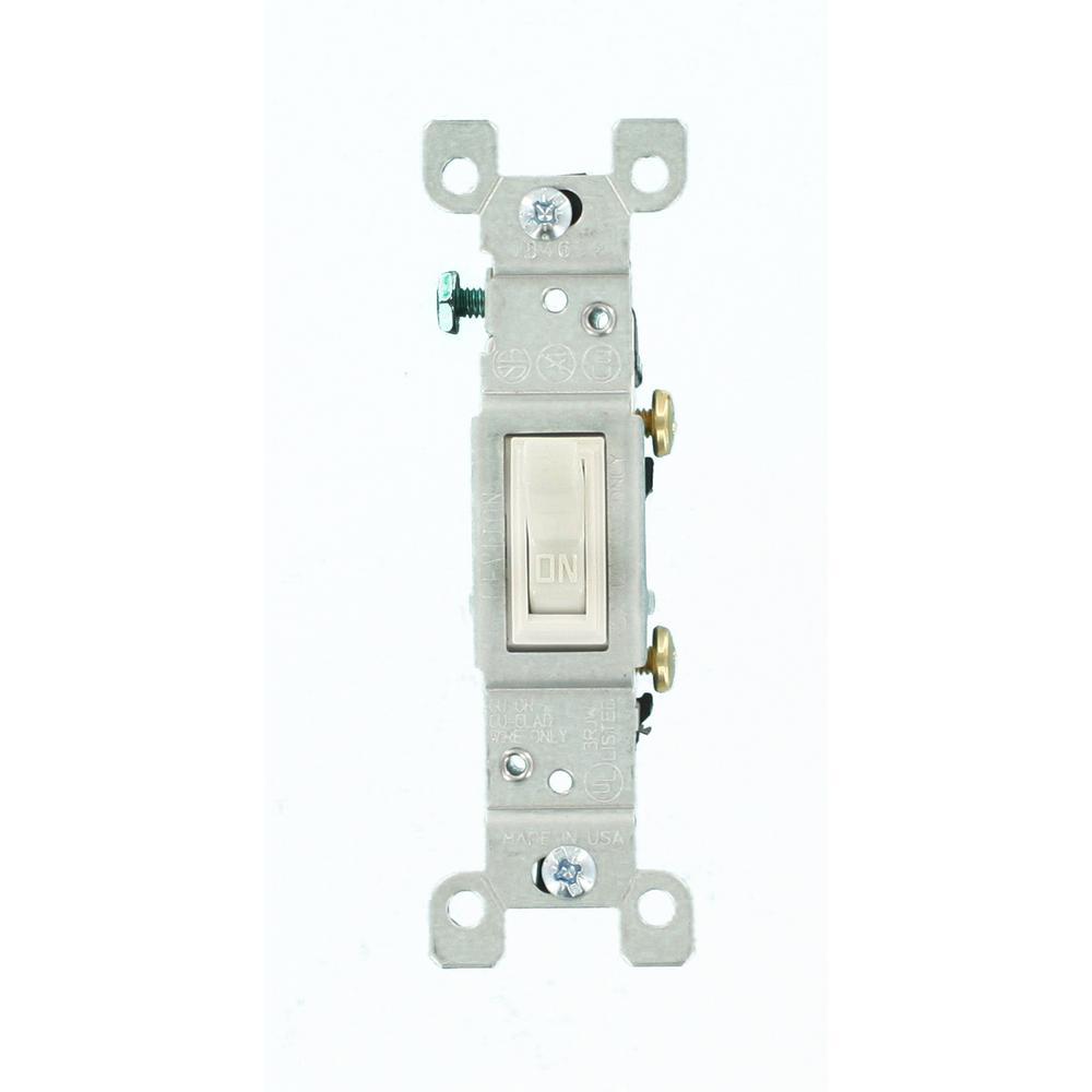 15 Amp Single-Pole Toggle Switch, White