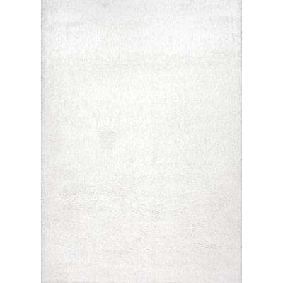 Gynel Cloudy Shag Snow White 9 ft. 2 in. x 12 ft. Area Rug