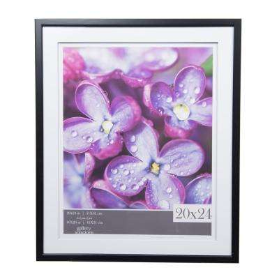 Gallery 16 in. x 20 in. Black Double Mat Picture Frame