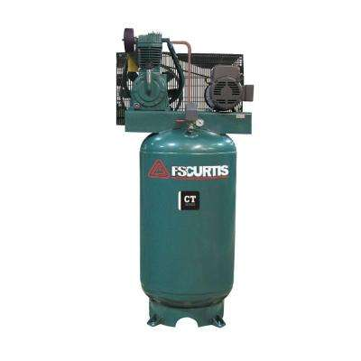80 Gal. 7.5 HP Vertical 2-Stage Air Compressor with Magnetic Starter