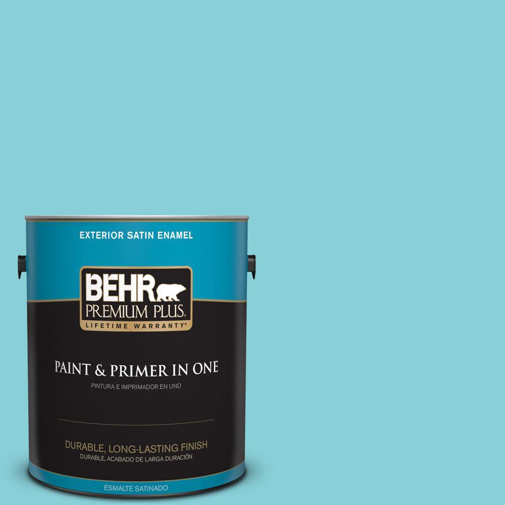 BEHR Premium Plus Home Decorators Collection 1-gal. #HDC-MD-14 Sky Watch Satin Enamel Exterior Paint