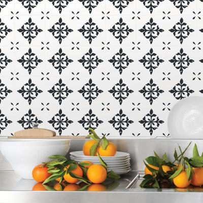 Ironwork Black Tile Decal Kit