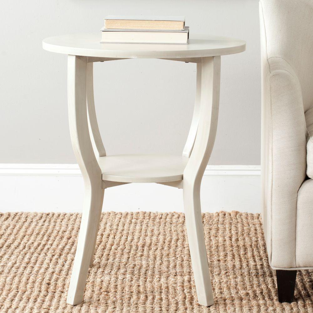Safavieh Rhodes Antique White End Table