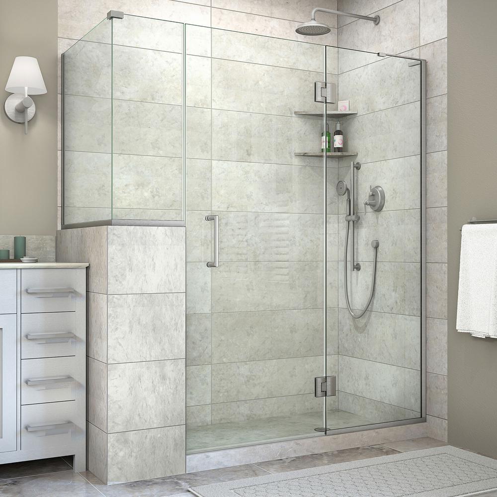 DreamLine Unidoor-X 40-3/8 In. X 59 In. X 72 In. Frameless Corner Pivot Shower Enclosure In