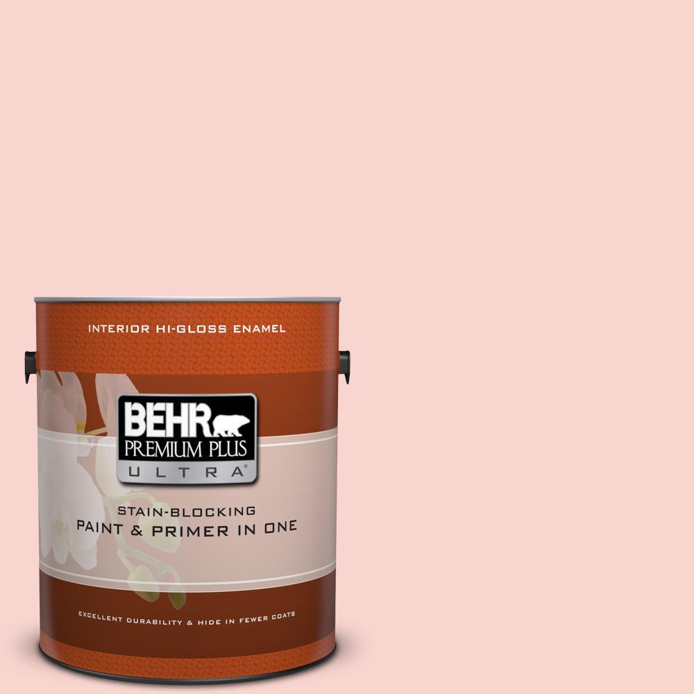 1 gal. #170C-2 Creamy Peach Hi-Gloss Enamel Interior Paint