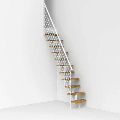 Oak30.Xtra 22 in. White Modular Staircase Kit