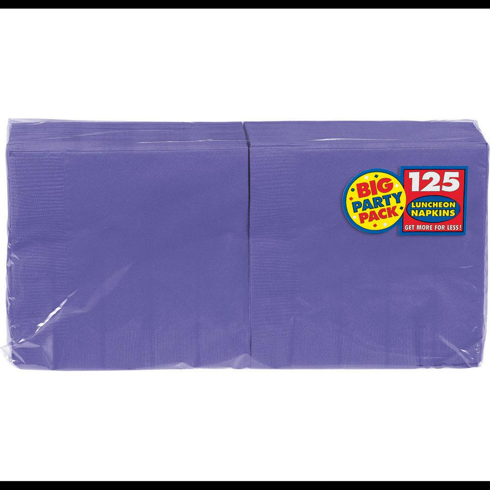 Big Party Pack 6.5 in. x 6.5 in. Purple Paper Birthday