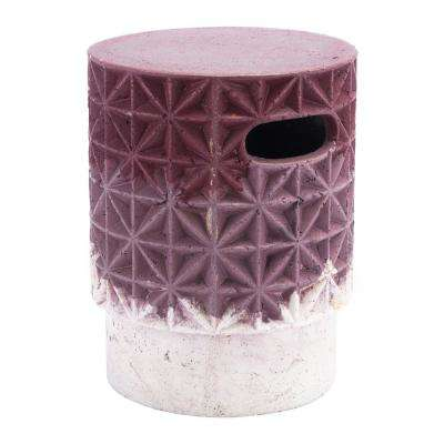 Grid Purple Stone Outdoor Side Table