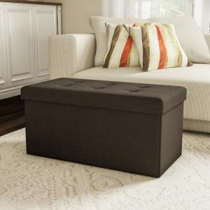 Enjoyable Lavish Home Brown Large Folding Storage Bench Ottoman With Caraccident5 Cool Chair Designs And Ideas Caraccident5Info