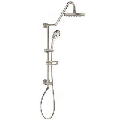 Brushed Nickel Rain Shower Head With Handheld. Kauai III 2 0 GPM 3 Spray Hand Shower and Head Combo Kit in Brushed Nickel  Showerheads Bathroom Faucets The Home Depot