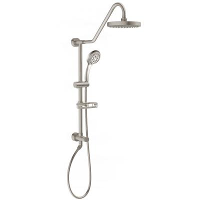 Kauai III 3-Spray Handshower and Showerhead Combo Kit in Brushed Nickel