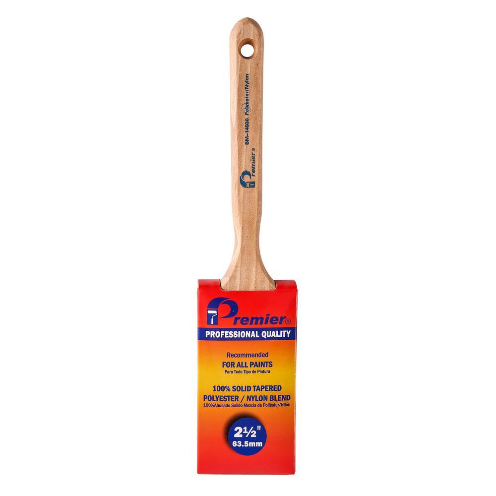 BM Series 2-1/2 in. Flat Sash Nylon-Polyester Blend Paint Brush (6-Pack)