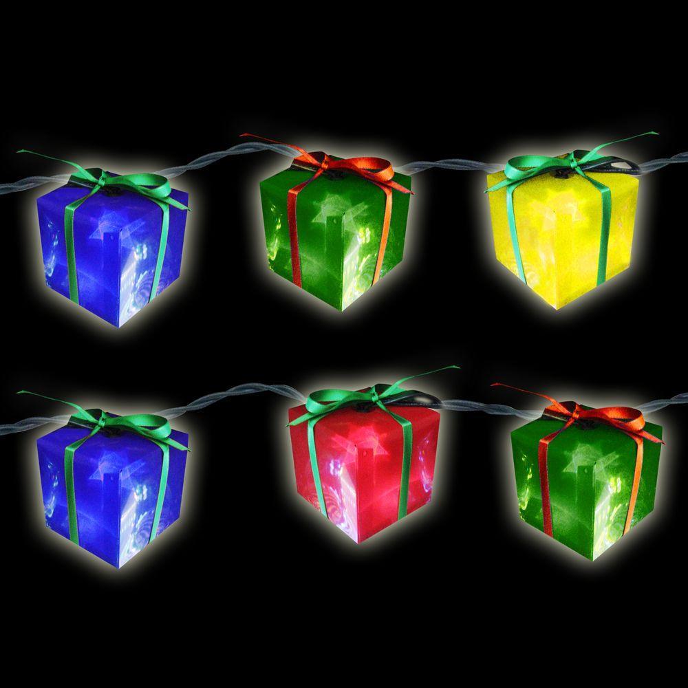 10-Light Multi-Color Gift Box Light Set (Set of 2)