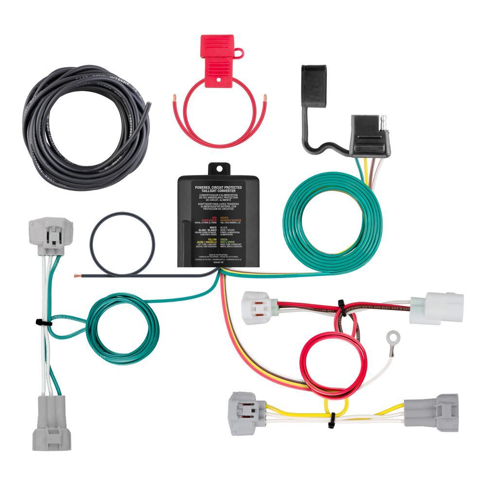 Curt Custom Wiring Harness  4-way Flat Output -56349