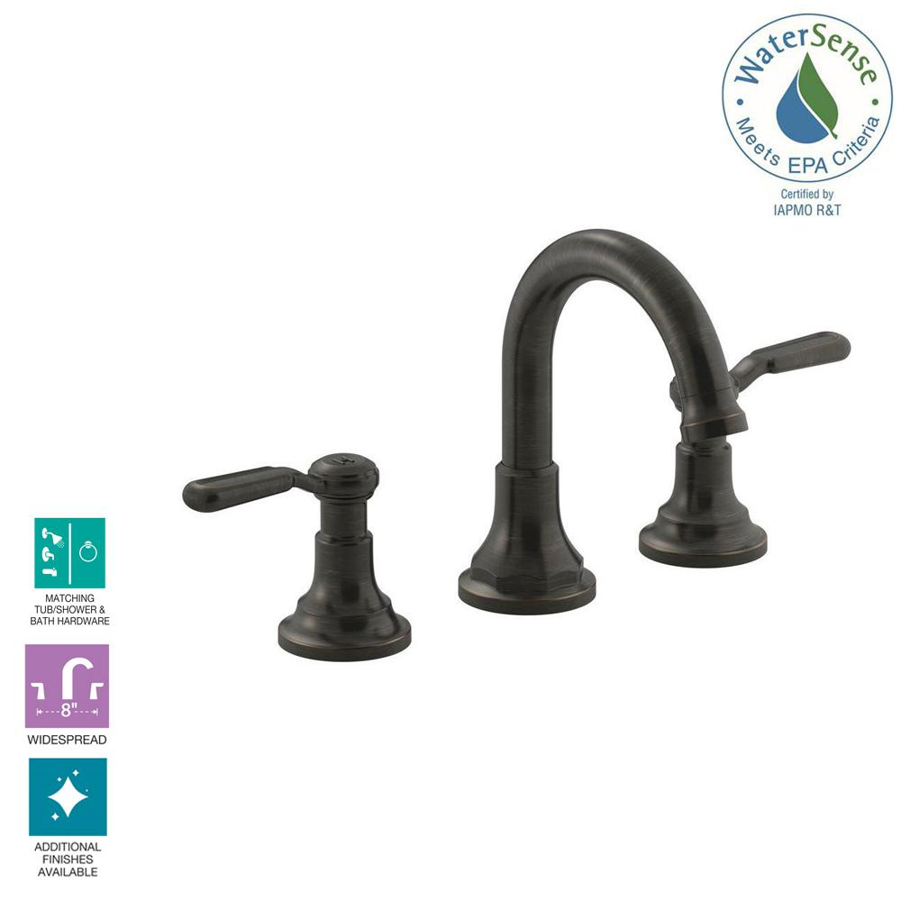 KOHLER Worth 8 in. Widespread 2-Handle Bathroom Faucet in Oil-Rubbed Bronze